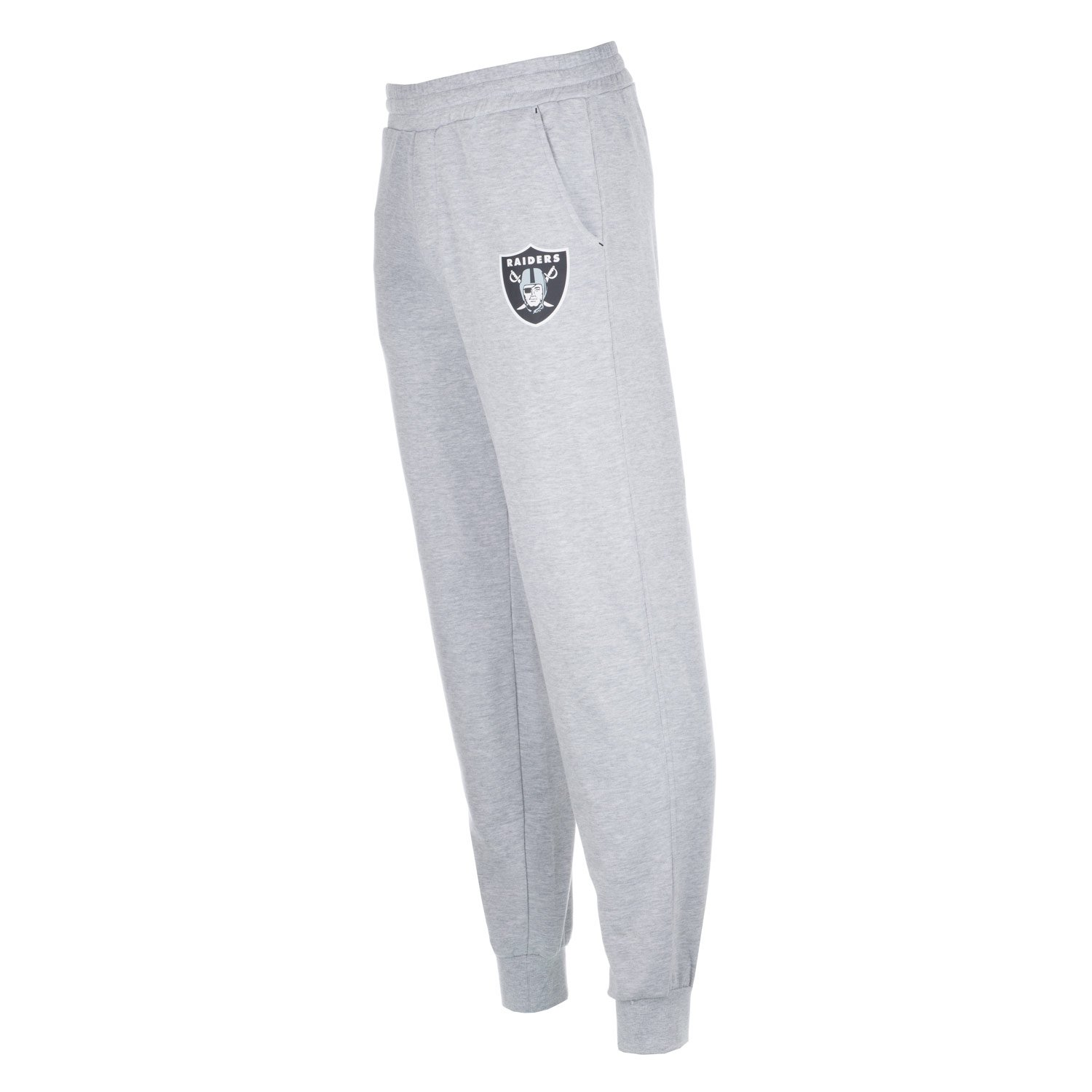 Majestic Mens Oakland Raiders Sroka Fleece Jog Pants Grey Marl