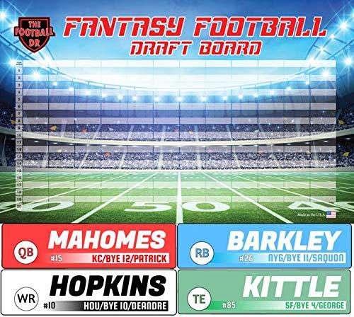 Fantasy Football Draft Board 2019 Kit - Basic Big Labels & Big Draft Board
