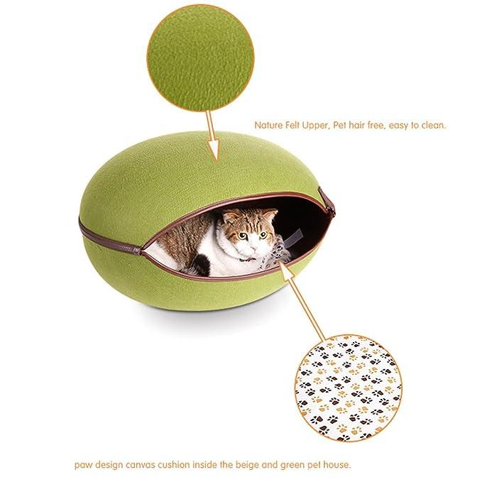 Amazon.com : eDealMax Forma de huevo Natural cómodo desmontable Para mascotas de la perrera Casa fácilmente lavable perrito del gato del perro Casa Rural ...