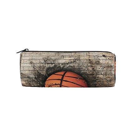 Bennigiry - Estuche para lápices, diseño de baloncesto en ladrillo ...