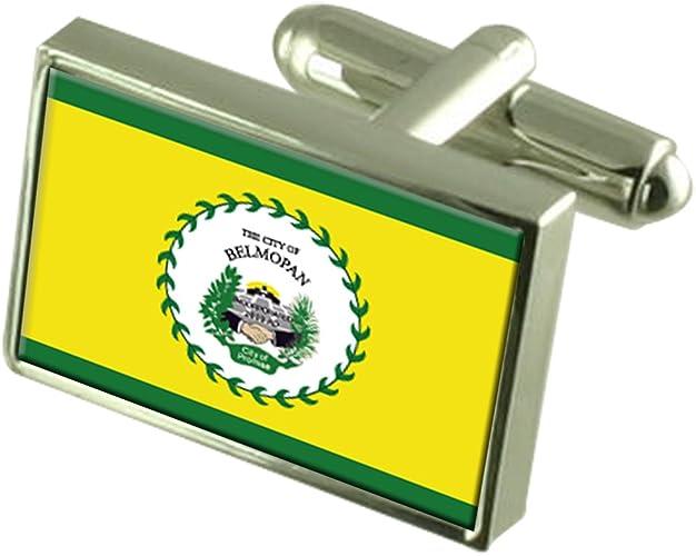 Belize City City Belize Gold-tone Flag Cufflinks