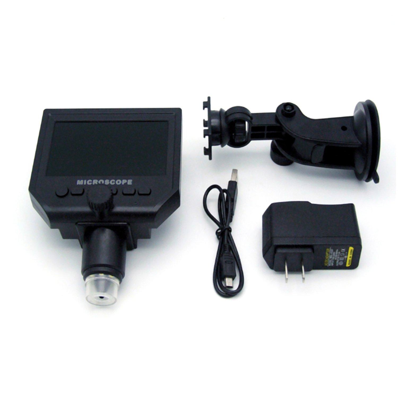 Microscopio Digital LCD Portable 4.3 Ampliaci/ón 600X Bater/ía de Litio Recargable para Reparaci/ón de Placas de Circuito Herramienta para Soldar