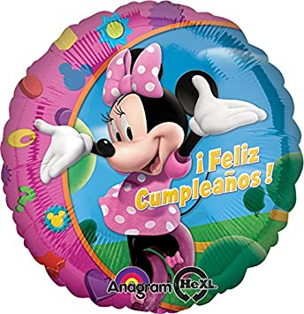 Amazon.com: Anagram International Hx Minnie Feliz Cumpleanos ...