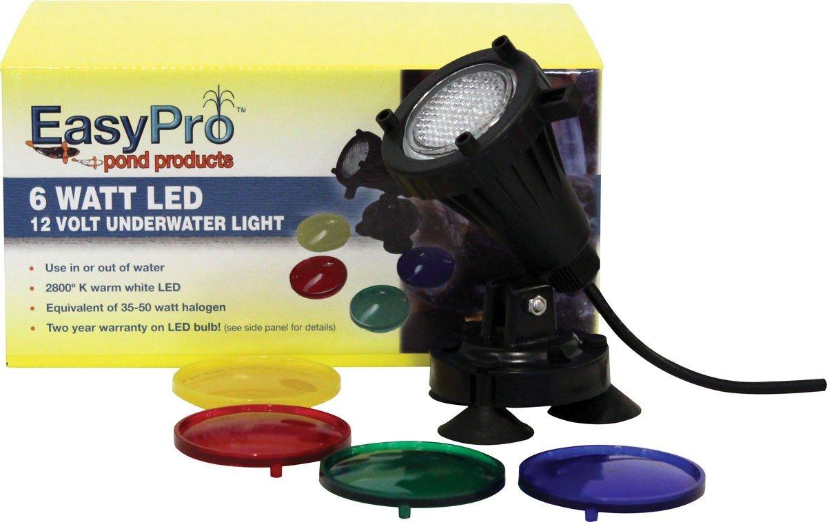 Set of 2 6Watt Underwater EasyPro LED6W LED Pond Lighting Kit Includes Transformer