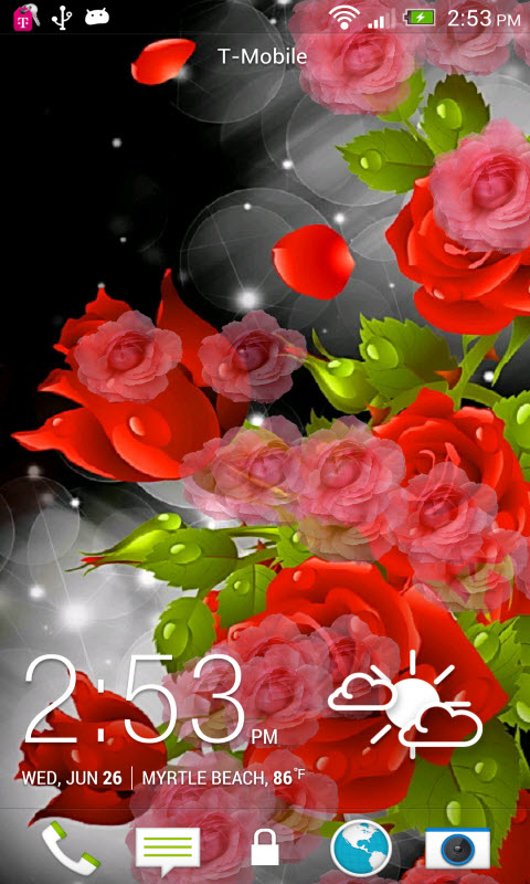 Amazoncom Red Rose Party Live Wallpaper Appstore For Android