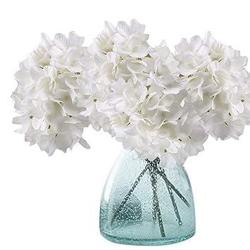 Amazon Artificial Hydrangea Flowers Meiwo 2 Pcs Fake Hydrangea