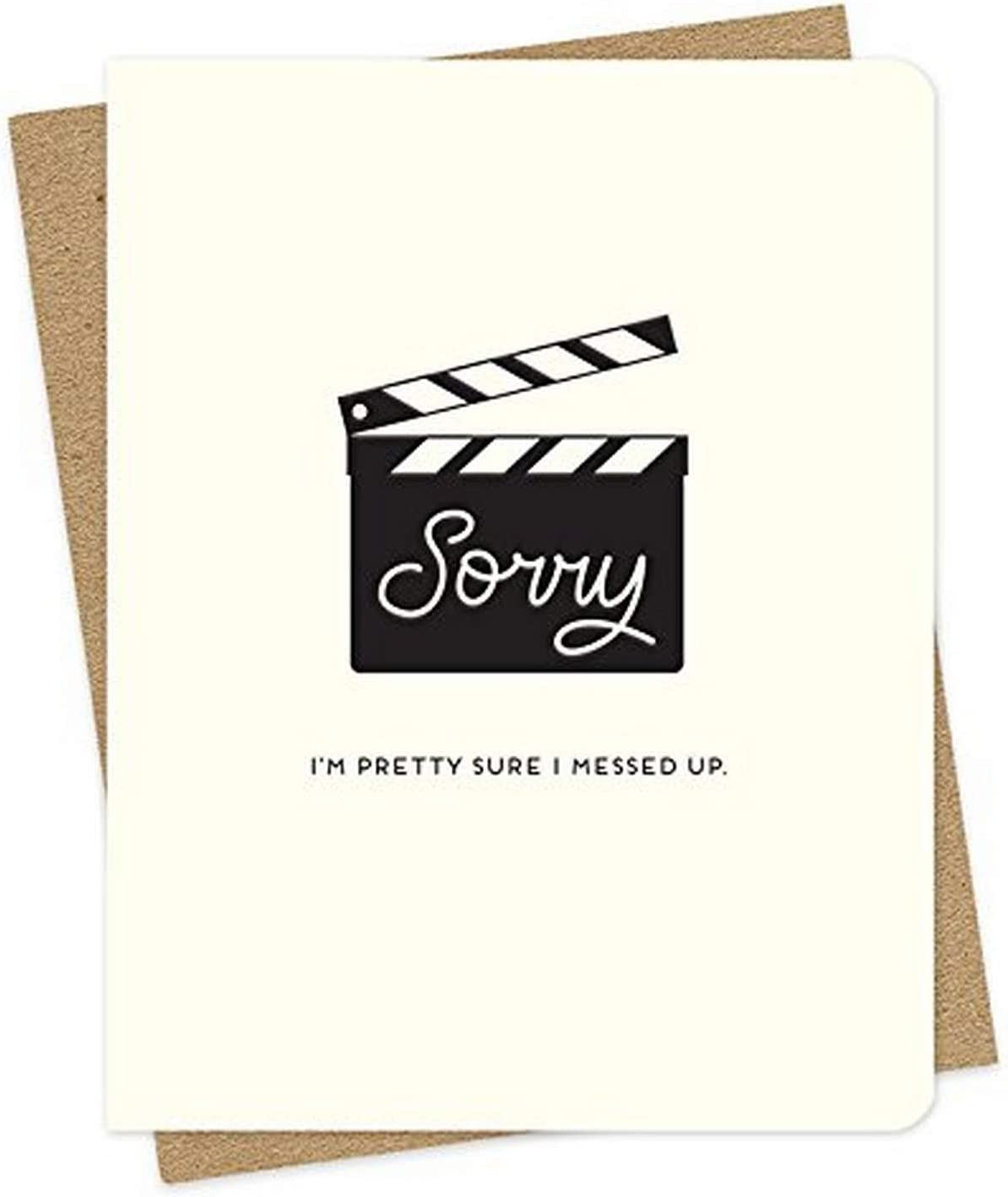Take 2 Letterpress Apology Card by Night Owl Paper Goods