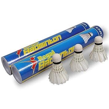 Weitere Ballsportarten Badminton 12pc Badmintonbälle Gänsefedern Federbälle Weiß für Trainingsspiel