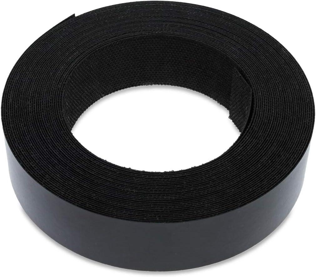 Iron on Pre-Glued Veneer Melamine Edging Tape 18mm BLACK SMOOTH