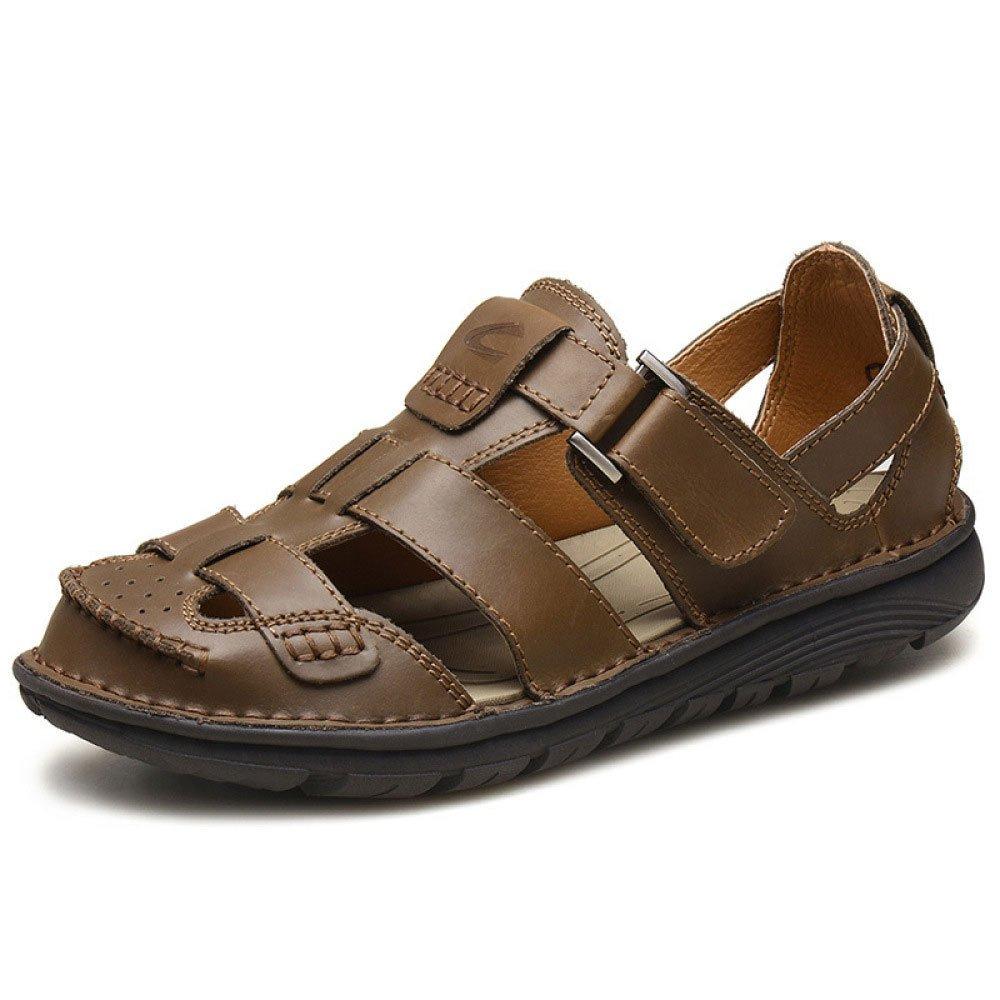 Sandalias para Hombres Zapatos De Playa para Hombres Ocasionales Baotou Crashworthy 40 EU|Khaki