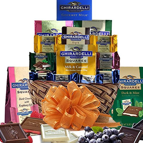 Grand Ghirardelli Chocolate Gift Basket A Beautiful Array Of Sweets
