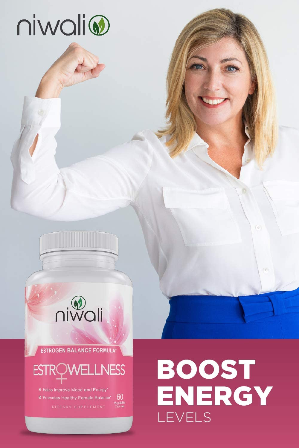 Niwali EstroWellness Pills for Hormonal Balance & Menopause Relief for Women
