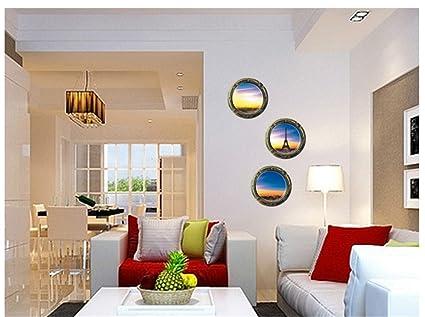 D visual tridimensionale di decorazione di interni adesivo parete