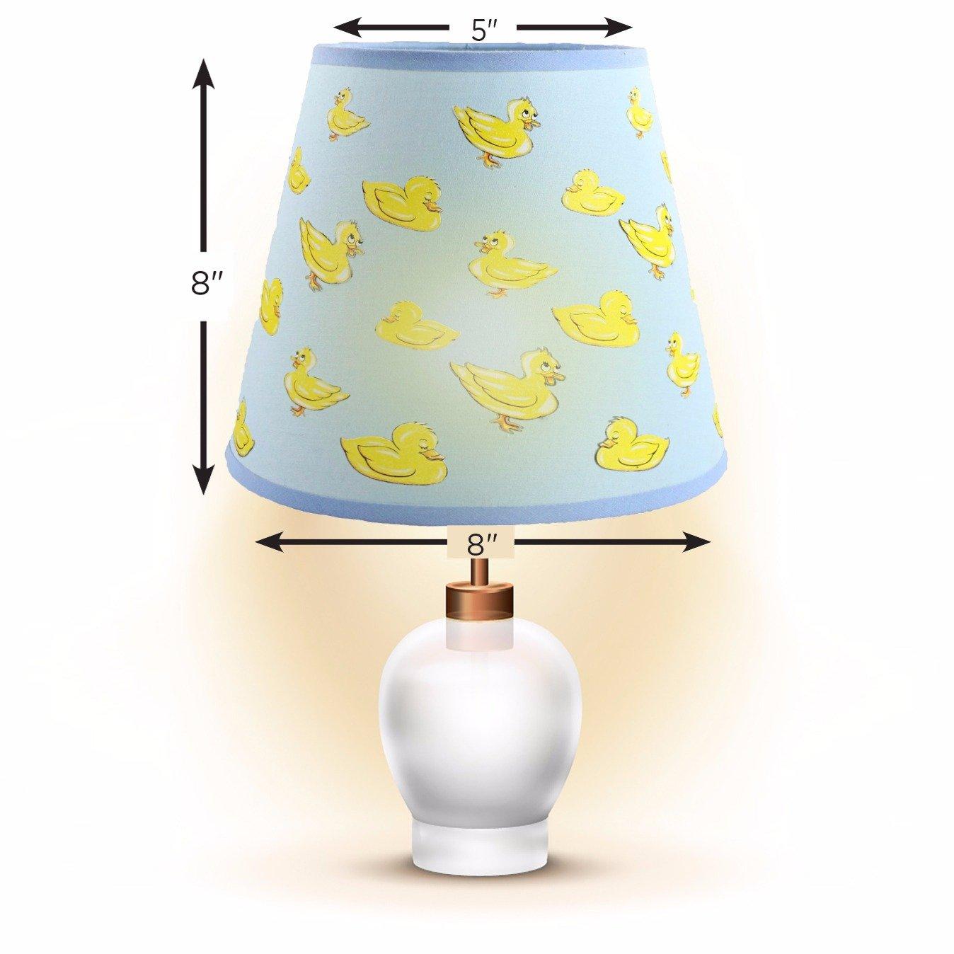 Childrens Dozing Ducks Lampshade for Boys /& Girls Nursery SooRoo Kids Duck Lamp Shade Pink Playroom Bedroom Pink or Blue Classroom /& More