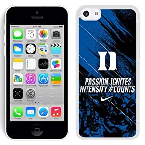 Customized Iphone 5c Case with NCAA Atlantic Coast Conference ACC Footballl Duke Blue Devils 5 Protective Cell Phone Hardshell Cover Case for Iphone 5c White