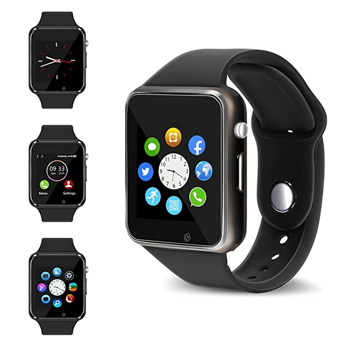 Bluetooth Smart Watch - Wzpiss Touch Screen Smartwatch Phone Unlocked Watch  Smart Wrist Watch with Camera