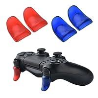 YoRHa L2 & R2 Trigger Button gâchette bouton Extender x 2 (rouge&Bleu) für PS4 / Slim manette