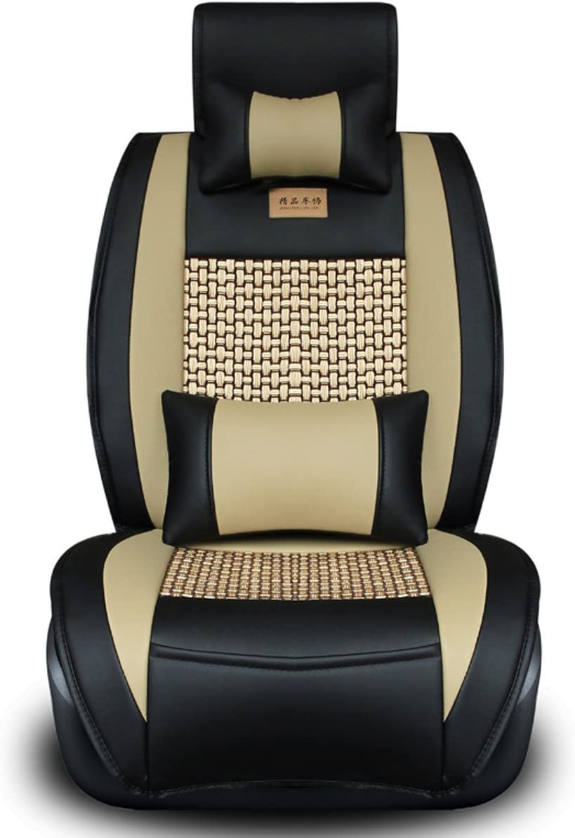 Front Rear Full Set Car Seat Covers for 5 Seats Vehicle Suitable for Year Round Use FREESOO Car Seat Cover Cushions PU Leather