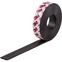 Magnetastico Magneetband, zelfklevend met 3M-merklijm, 1,2 meter, magnetisch plakband voor posters, ansichtkaarten, foto…