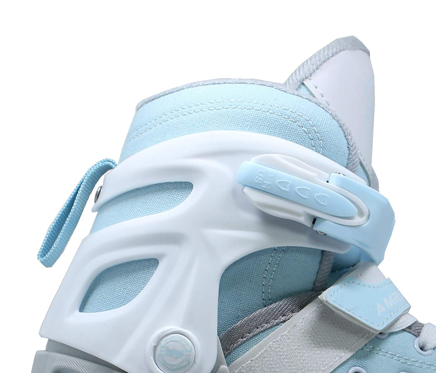 WiiSHAM Fun Roll Adjustable Canvas Roller Skates with Four Piles