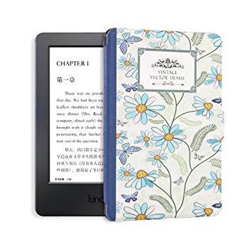 DATOUDATOU 1X Impreso Kindle 8 Caso de Piel para Kindle E-Reader ...