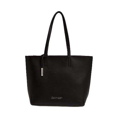 Stitch Ew Calvin Klein Borse Tote Shopper DonnaNeroblack nwP80Ok