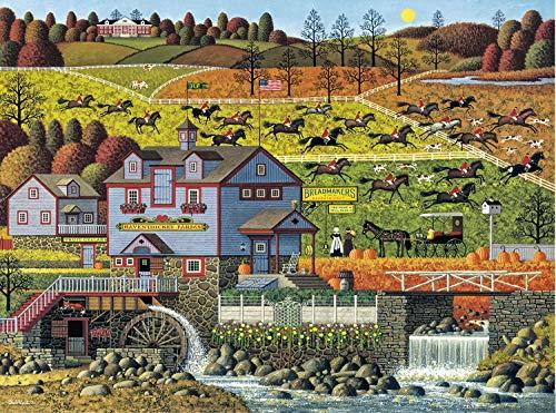 (Buffalo Games - Charles Wysocki - Foxy Fox Outfoxes The Fox Hunters - 1000 Piece Jigsaw Puzzle)