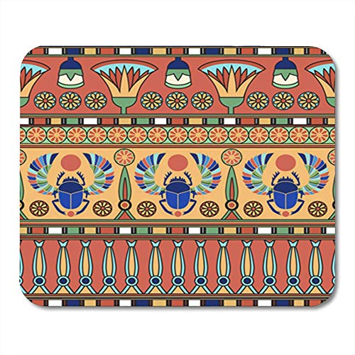 Gaming Mouse Pad Ancient Abstract Antique Archeology Cairo Collection Color 7.18.7 Inches Decor Office Computer Accessories Nonslip Rubber Backing Mousepad Mouse Mat (Cairo Collection)