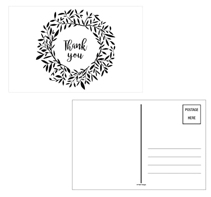 Amazon Com Thank You Cards 50 Ct Greeting Postcards Notes Black