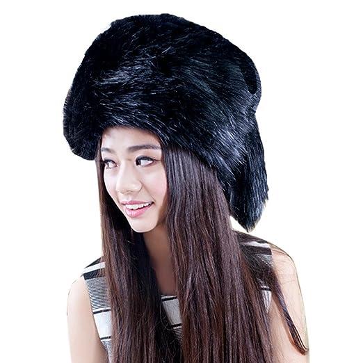 53044dbc12c077 Smallrabbit Women Winter Hat Faux Fur Russian Cossack Trapper Hats with  Tail Warm Mongolian Beanie Cap