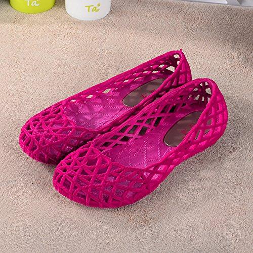 Xing Lin Flip Flop De La Playa Señoras Zapatillas Verano Pendiente Con Zapatillas Antideslizantes De Malla De Plástico Grueso Zapatos Zapatos Enfermeras Joker Plana Pink