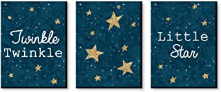 product image for Big Dot of Happiness Twinkle Twinkle Little Star - Baby Boy Nursery Wall Art and Kids Room Decorations - Gift Ideas - 7.5 x 10 inches - Set of 3 Prints