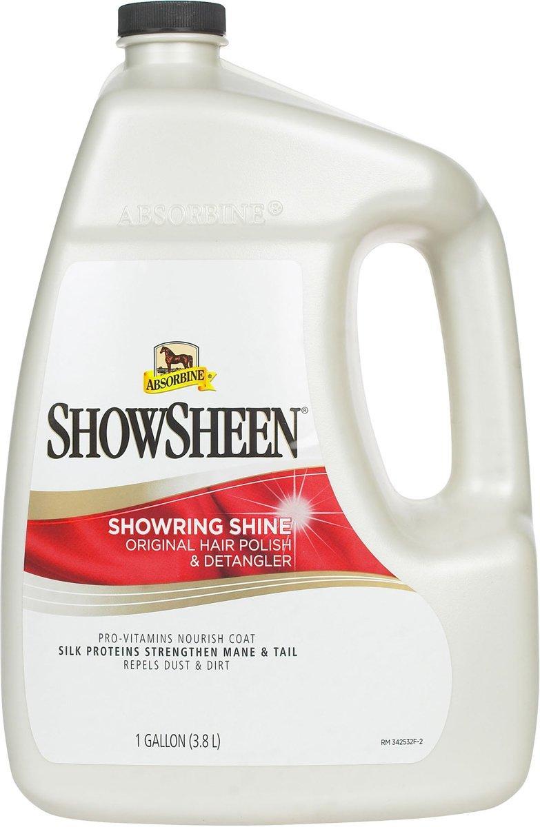 W F Young Inc. Absorbine Showsheen Hair Polish & Detangler,1 gallon(3.8L)