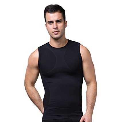 2bce764b Amazon.com : FitnessSun - Mens Quick Dry Tights Undershirt - Compression  Base Layer - Body Shaper Sports Muscle Tank Top : Clothing
