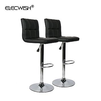 Elecwish ruedas de piel sintética (oficina silla de oficina respaldo alto de altura regulable, con reposabrazos ordenador cromado Base Home muebles sala ...