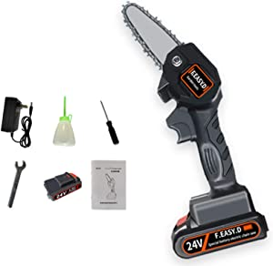 Bitcircuit Mini Chainsaw, Lightweight Powerful Electric Saw Cordless Handheld Chainsaw, Only 0.7kg Weighs, Pruning Shears Chainsaw for Tree Branch Wood Cutting