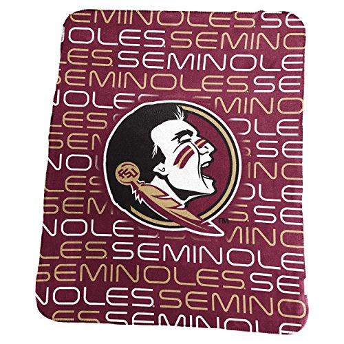 NCAA Florida State Seminoles Classic Fleece, One Size, (Fleece Florida State Seminoles Blanket)