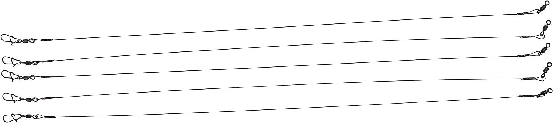 St/ärke: 0,4mm Tragkraft: 20kg L/änge: 40cm PetrisCatch: 5 STK Art: 1x1 Titan Vorf/ächer mit Wirbel und Karabiner