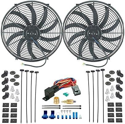 American V Dual 16 pulgadas Radiador eléctrico ventiladores de ...