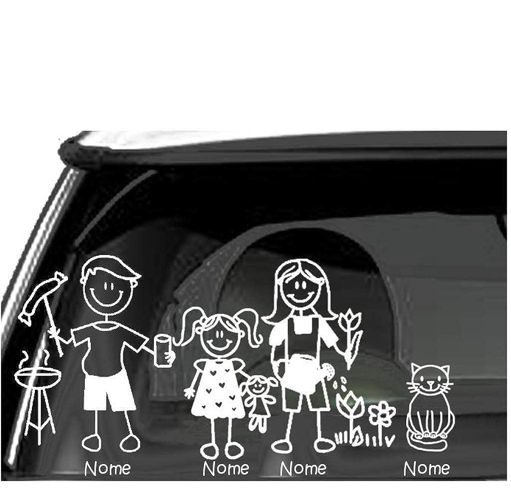 Sorrydenti adesivo famiglia a bordo nomi personalizzato family sticker stickers auto macchina camper