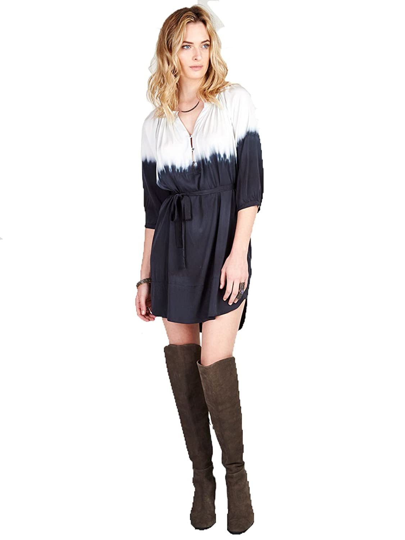 Gypsy05 Women's Bastet Silk Tunic Dress Black