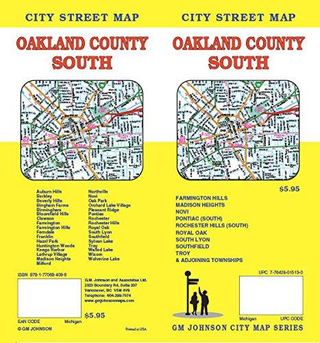 Oakland County South, MI Street Map (Oakland Map)