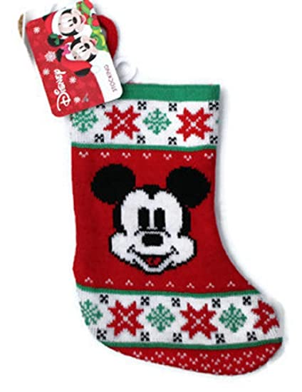 mickey mouse christmas stockings 8 disney knit - Mickey Mouse Christmas Stocking