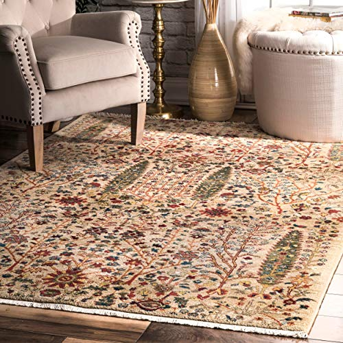 nuLOOM Contemporary Tribal Gabbeh Fringe Area Rug, for sale  Delivered anywhere in USA