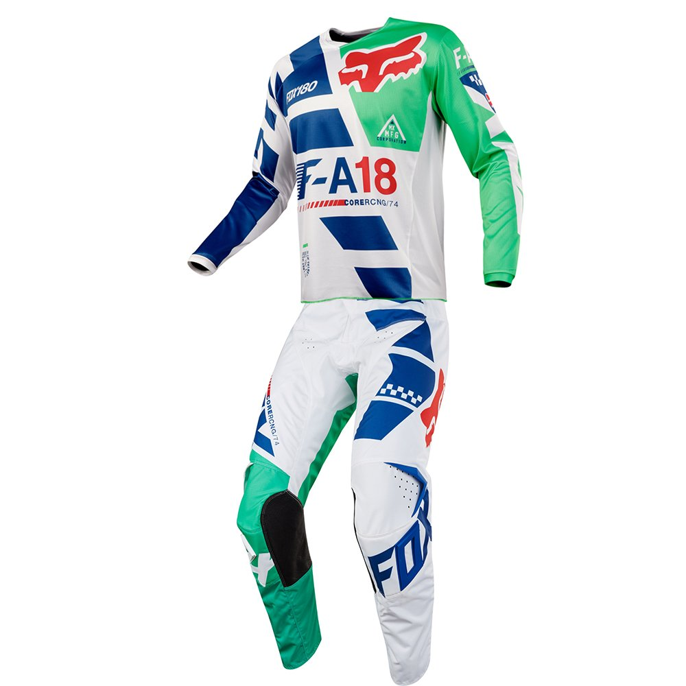 Fox Racing 180 Sayak Green Jersey/ Pant Youth Combo - Size Y-LARGE/ 28W