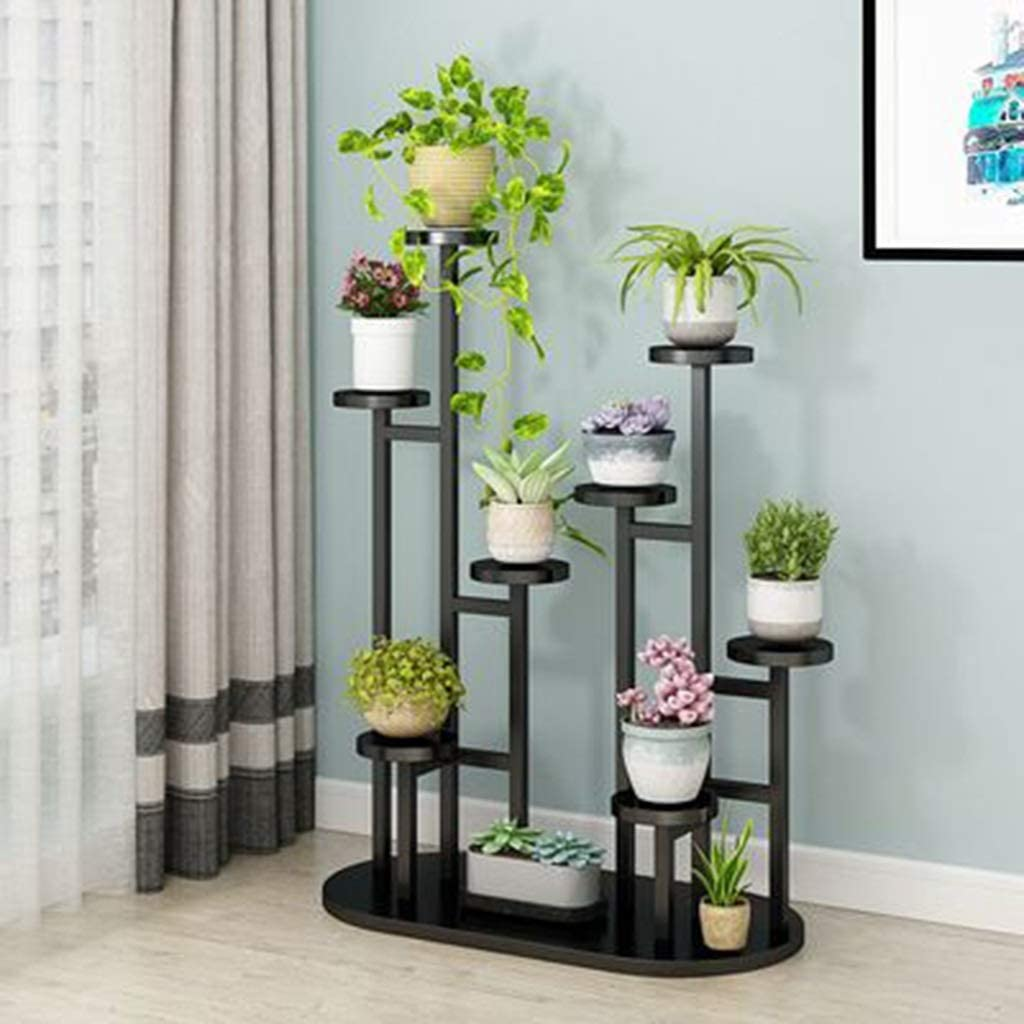 YCDJCS Flower Stand Home Multi-Layer Balcony Rack Plant Stand Round Living Room (Color : F, Size : 9040120cm)