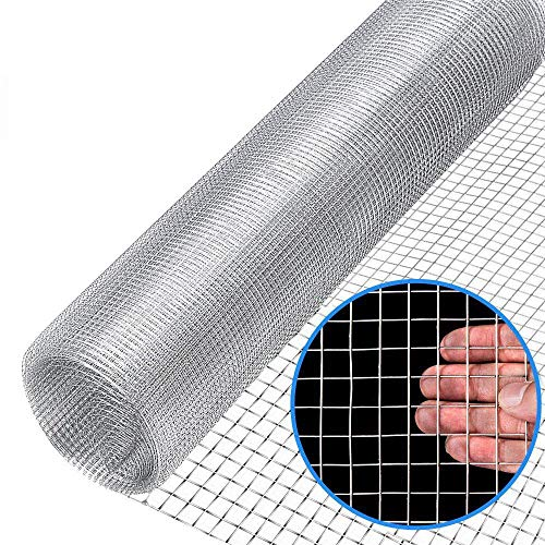 Wire Fence Mesh Cage Plant Supports Enclosure Roll Garden 19 Gauge Galvanized Wire 1/2inch(48
