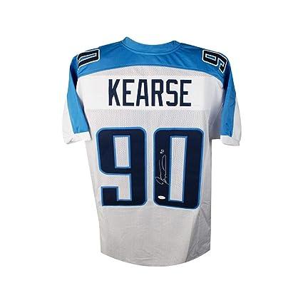 Jevon Kearse Autographed Tennessee Titans Custom White Football Jersey - JSA  COA 61894455d