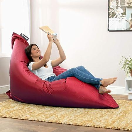 Bean Bag Bazaar Bazaar Bag - Ladrillo Rojo, 180cm x 140cm, Puf Gigante para Interiores y Exteriores – Puff Enorme, Ideal para Usar en el Hogar y el ...