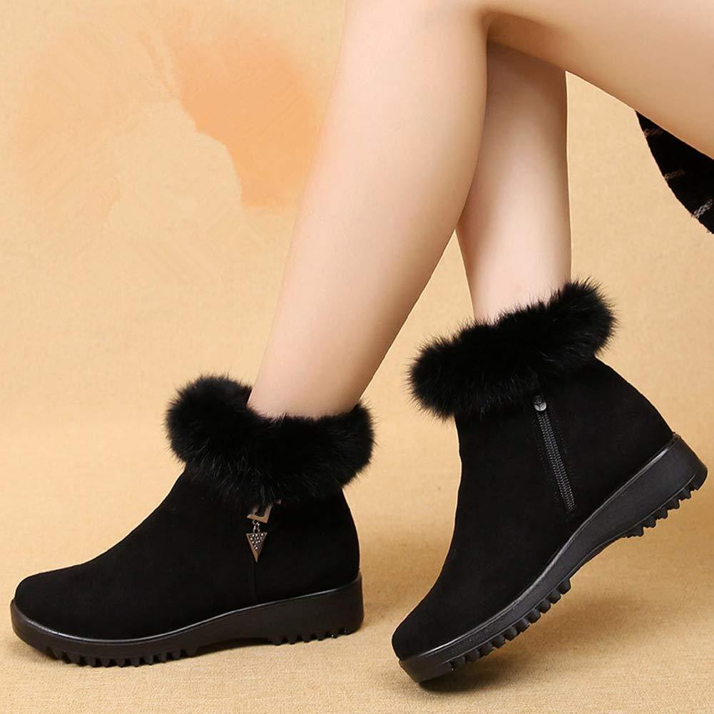 Frauen Winter Warme Schuhe Komfortable Plüsch Plüsch Plüsch Gefüttert Weichen Boden Ankle Stiefelie Weibliche Zip Schneeschuhe Plus Größe 7bd168